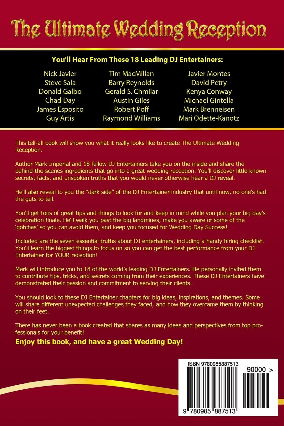 the ultimate wedding reception back cover